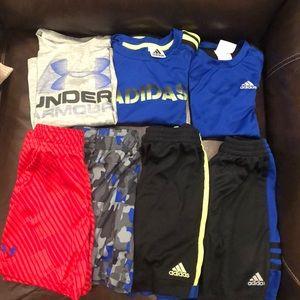 Adidas/Under Armour Bundle of 7 boy items